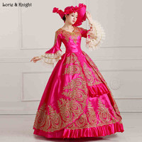 Queen Marie Antoinette Inspired Masquerade Dress Princess Royal Ball Gown/Stage Costume FUSCHIA