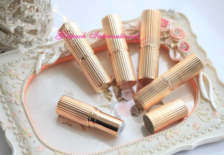 50pcs Lot 12 1mm 5g Bulk Selling Stripe Metallic Gold Empty Lipstick Tube Elegant Chapstick Tube Lipstick Container Lippie Tube Lipstick Bulk Tube Lipsticklot Lot Aliexpress