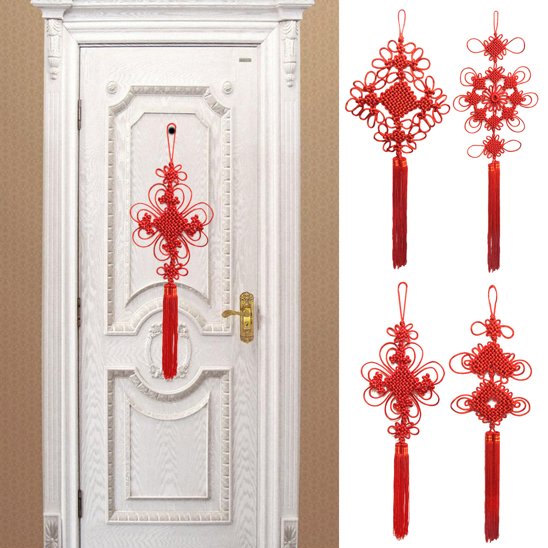 Behogar Good Luck Chinese Knot Hanging Decoration Ornament