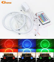 For Jeep Wrangler CJ TJ JK 7 Headlamp Excellent RGB LED Angel Eyes Kit Multi Color