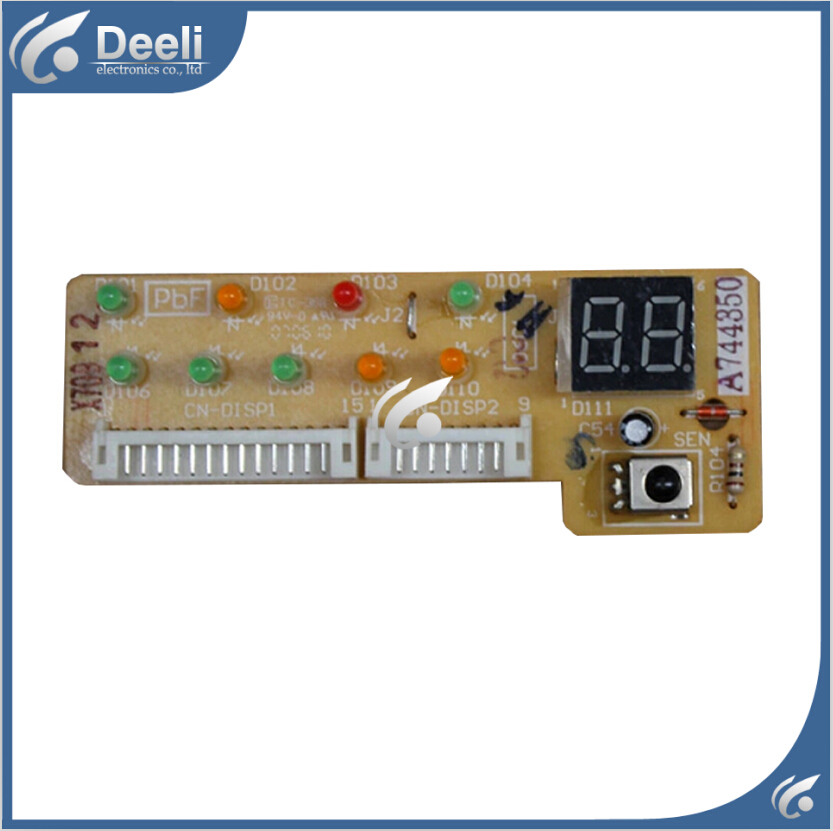 95% new good working for Panasonic Air conditioning display board remote control receiver board plate A744350 cs3310 remote preamplifier board with vfd display 4 way input hifi preamp remote control digital volume control board
