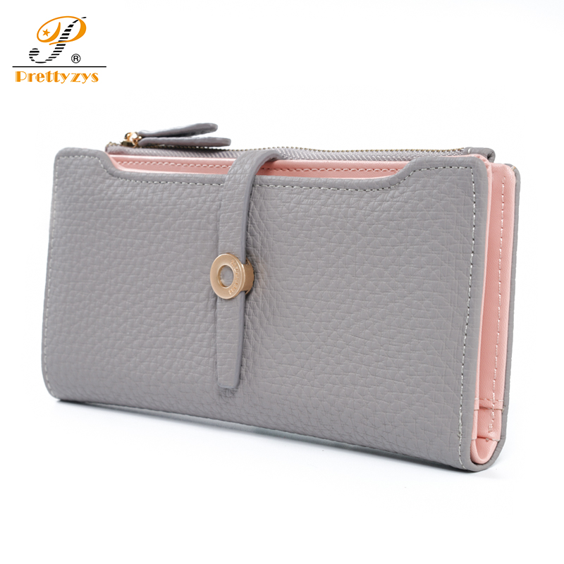 Prettyzys 2017 Women Long Wallet Female Card Holders Coin Purse Zipper Money Bag Female Leather Fashion Luxury Brand Light Multi 2017 purse wallet big capacity female famous brand card holders cellphone pocket gifts for women money bag clutch passport bags