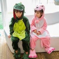 Mengshufen Pajamas Set Kids Dinosaur Sleepwear Set Flannel Animal Winter Children Girls Boys Detachable Hat Pyjamas