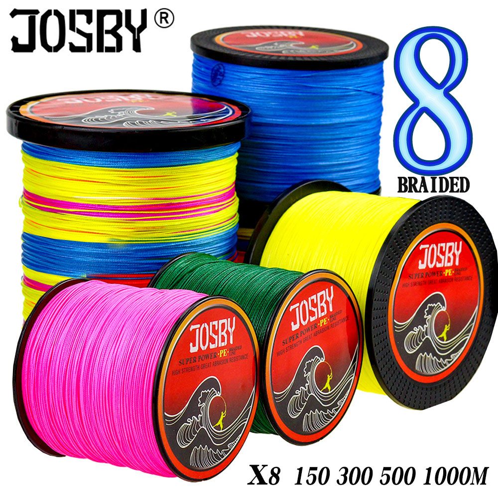 JOSBY Fly Carp Fishing Line Pesca Peche Pe Multifilamento Braided Wire 8 Strand 150M 300M 500M 1000M goods leadcore Spinning