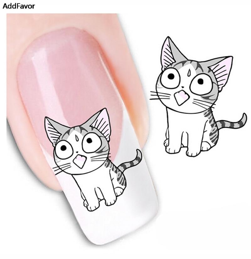 AddFavor Cat Nail Art Sticker Decal Water Transfer Nail