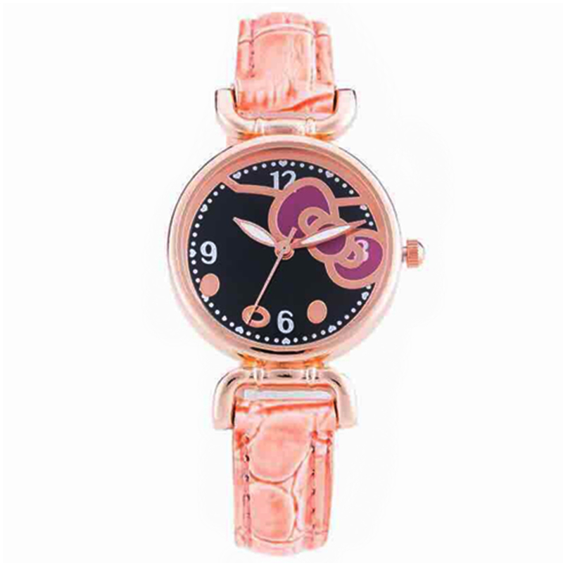 Fashion Cute Hello Kitty Watch Women Casual Cartoon Watch Orange Colors Leather Quartz watch For children girl kids Holiday gift free shipping top fashion brand hello kitty quartz watch children girl women leather crystal wrist watch wristwatch cut lovely