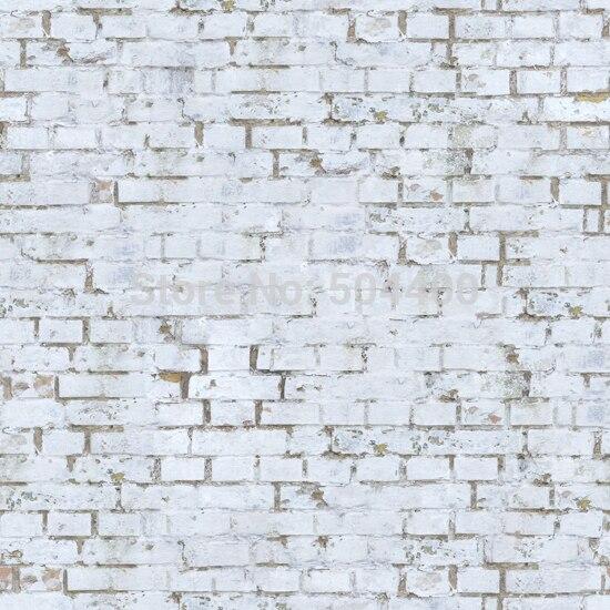 5X7ft Art fabric photo studio newborn backdrop photography background white brick wall backdrop D-691
