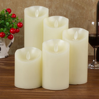 3PCS 10cm/12.5cm/15cm Smooth Flickering Flame LED Flameless Wax Mood Candles Home Lamp Light
