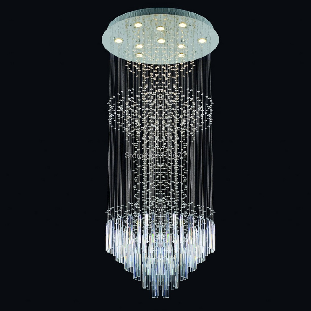 New big crystal lamp k9 crystal chandelier modern luxury lighting new big crystal lamp k9 crystal chandelier modern luxury lighting fixtures stair light in chandeliers from lights lighting on aliexpress alibaba arubaitofo Gallery