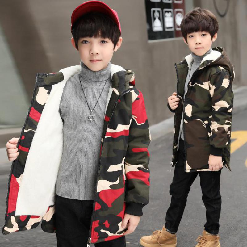 2018 New Baby Boys Winter Coat Hooded Children Down Toddler Boys Winter Jacket Boys Kids Warm Outerwear Parks Christmas Clothes