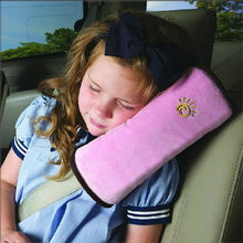 Baby Children Safety Strap 28x9x12cm Micro-suede Fabric Car Seat Belts Pillow Shoulder Protection Car-Styling High Quality(China)