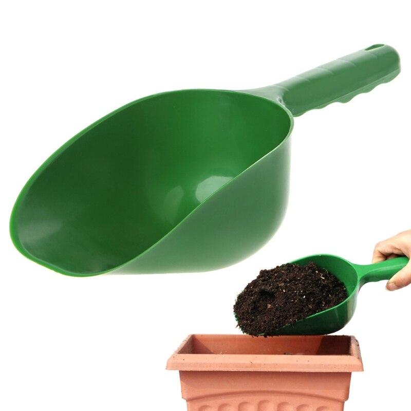 1PC Plastic Garden Shovel Bonsai Seeding Soil Scoop Succulent Planting Hand Tool