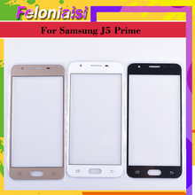 10Pcs/lot For Samsung Galaxy J5 Prime G570 G570F Outer Glass Top/Front Lens Front Screen Cover (Without digitizer) Touch