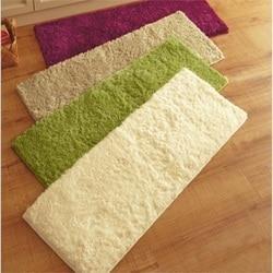 40x120 cm tapete de pelúcia absorvente deslizamento sala de estar banheiro cozinha quarto tapete da porta piso corredor mesa café tapete