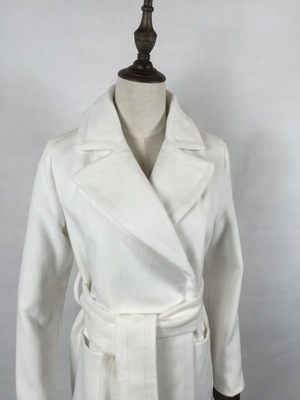 Revers La Tranchée Blanc Plus Lâche Mode Femmes Laine Longue Manteau Outwear Taille Automne Manteaux Grand Mince Hiver Cachemire 2018 F1clKJ