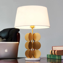 Marble base & metal stent fashion creative desk lamp modern living room / bedroom / bedside decorative table lamp 65cm height italy design table lamp marble base brass coating flow