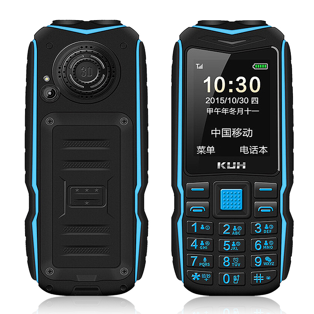 Original Mini Power Bank Phone KUH T3 Big voice 2.4 Inch Dual High Flashlight Quick Dial Rugged Cellphone