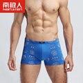 Boxeadores 2017 nuevo algodón de la impresión europea extra grande tamaño de los hombres del boxeador shorts mens underwear transpirable l ~ 6xl de marca de la venta caliente