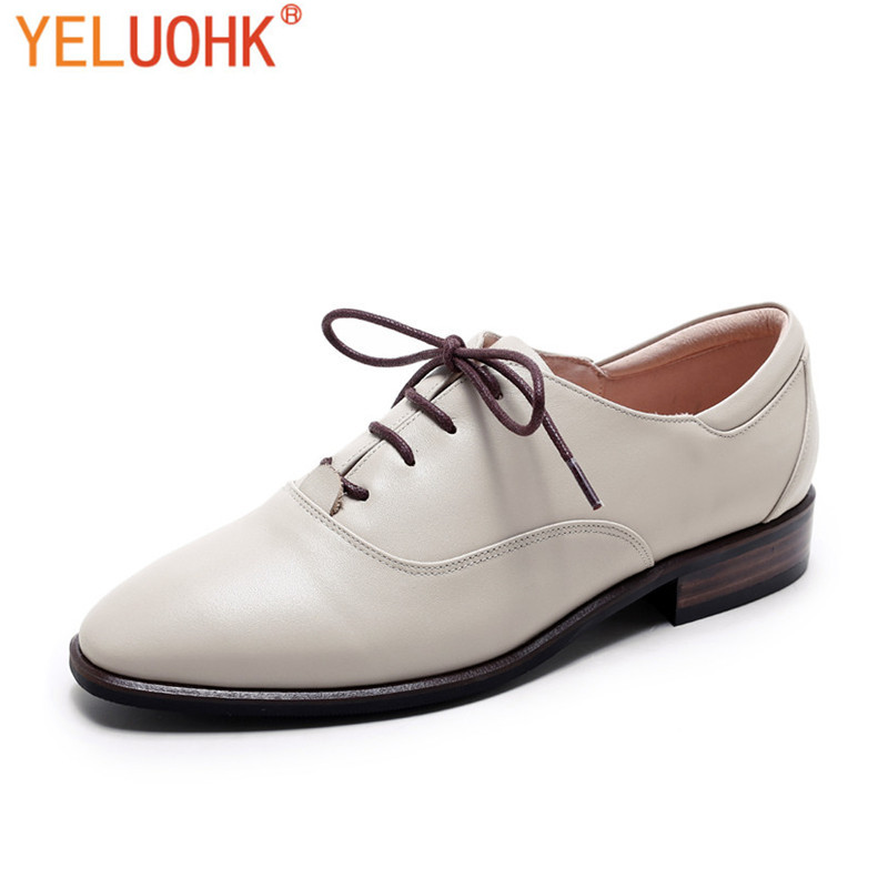 Genuine Leather Oxfords Shoes For Women Flats Top Quality Flat Shoes Women top quality genuine leather oxfords for women gold sliver mixed colors female british style spring autumn casual flat shoes