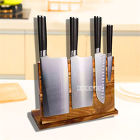 GM21 Creative Multifunctional Kitchen Solid Wood Knife Holder Magnetic Knife Holder Professional Kitchenware Storage Knife Racks