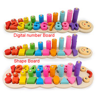 Kids Caterpillar Digital Shape Logarithm Board Games Wooden Toys Learning Educational Toys For Children Montessori Math Toys
