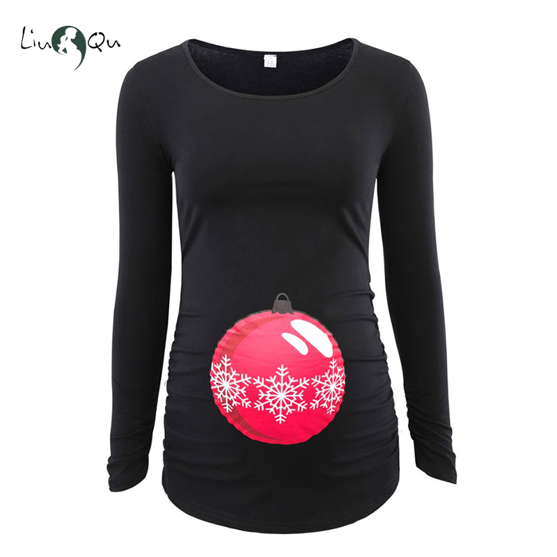 ugly christmas maternity tops jingle belly ornament mama clothes flattering side pregnancy shirt cute funny t shirt women tee in blouses shirts from