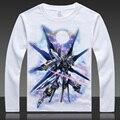 Mobile Suit GUNDAM T-shirts Unicon Print Long Sleeve Fashion Full T Shirt ops Autumn Spring Tees