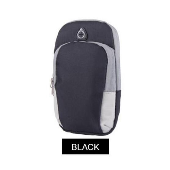 Чехол для телефона на руку для LG G7 ThinQ G4 G5 G6 G8 Stylo 4 сумка на молнии многофункциональный чехол для занятий спортом для LG V50 V30 V40 K5 K7 K8 K10 - Цвет: Черный