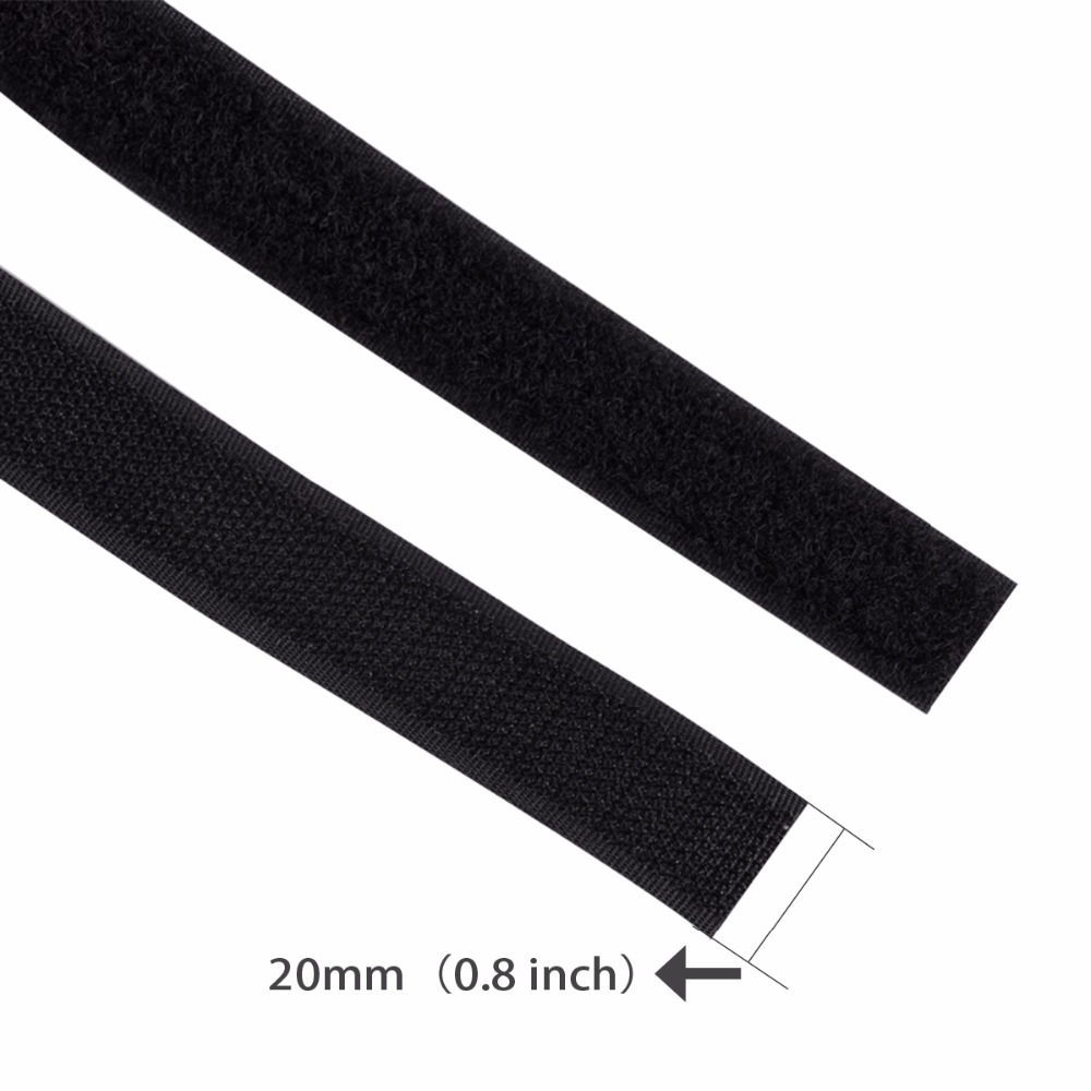 2x rolle magic tape nylon kabelbinder klebehaken schleife verschluss ...