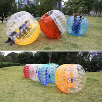 Free Shipping 5 ft(1.5m) Zorb Football Bumper Ball Bubble Soccer Aufblasbar Spiel Rasen Farbeauswahl Inflatable Human Ball