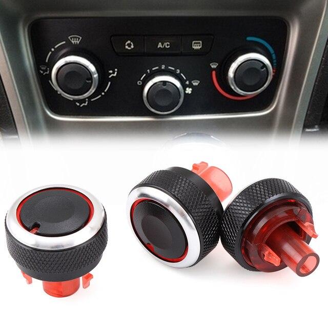 Perilla de panel de CA para Peugeot 307 para Citroen Triumph AC control de calor perillas interruptor pegatina Accesorios