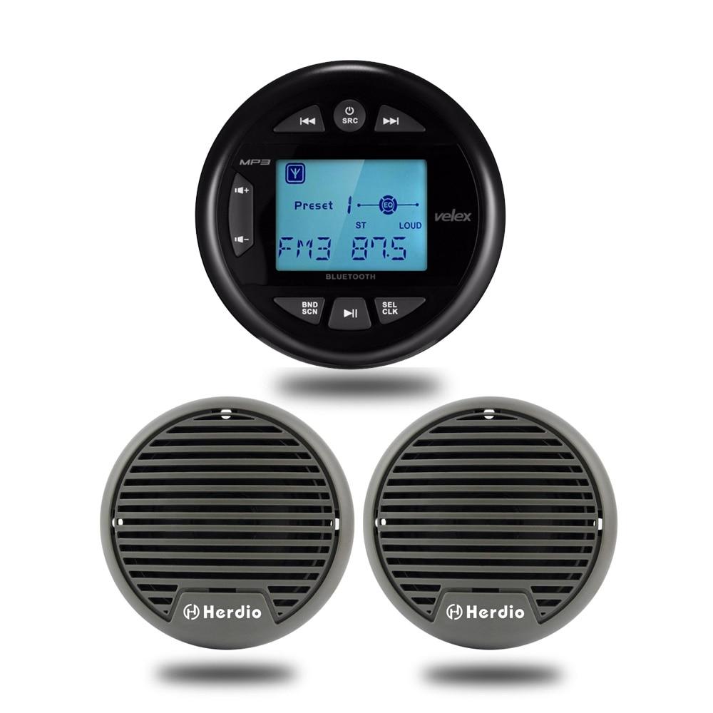 Marine Radio Waterproof Bluetooth Stereo Car MP3 Player Audio USB AUX For Boat ATV UTV 3