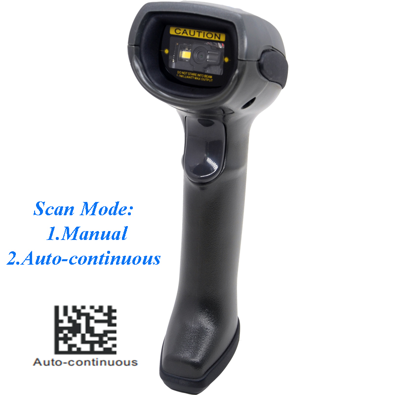 ISSYZONEPOS USB Laser 1D 2D Barcode Scanner QR Code Reader Continuous Windows Plug And Play Supermarket Store Warehouse Library in Scanners from Computer Office