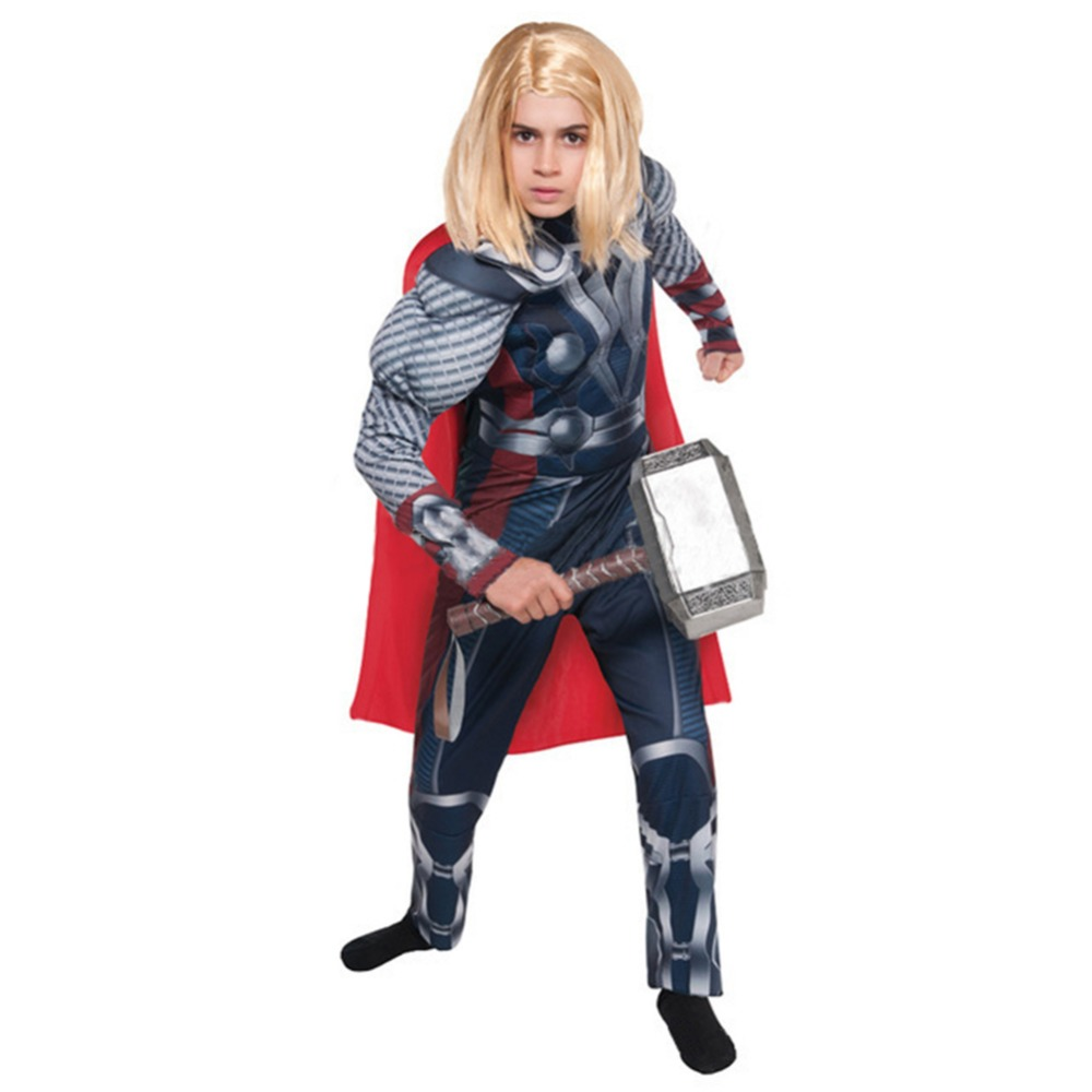 Thor Cospaly Costume Kids Jumpsuit Outfit Halloween Carnival Costume