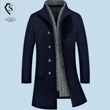 Winter New Man Long trench coat wool coat Winter peacoat Men's wool Coat mens overcoat men's coats male clothing M-3XL w1719