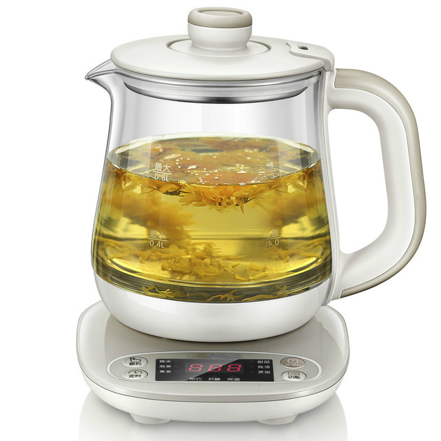 Office health pot with thick glass multi purpose glass boiler ...