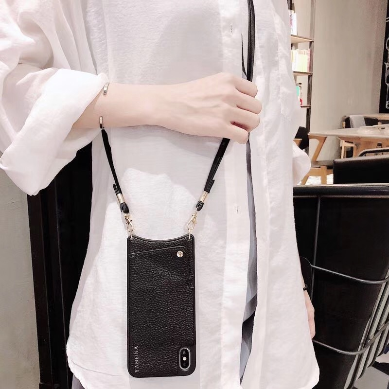 HTB16uE7eUGF3KVjSZFvq6z nXXap Credit Card Leather Wallet Strap Crossbody Long Chain Phone Case for Iphone 11 pro XR XS Max 6S 8 7 plus luxury Back cover coque