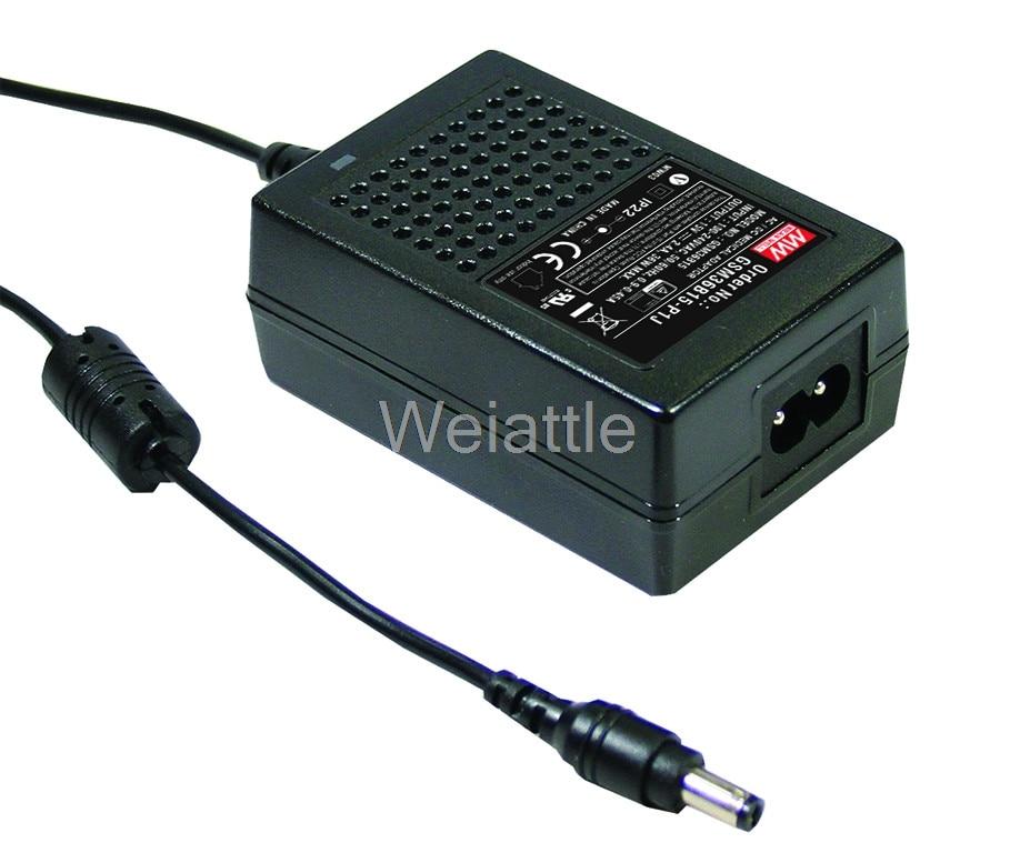 MEAN WELL original GSM36B15-P1J 15V 2.4A meanwell GSM36B 15V 36W AC-DC High Reliability Medical Adaptor best selling mean well gst60a15 p1j 15v 4a meanwell gst60a 15v 60w ac dc high reliability industrial adaptor