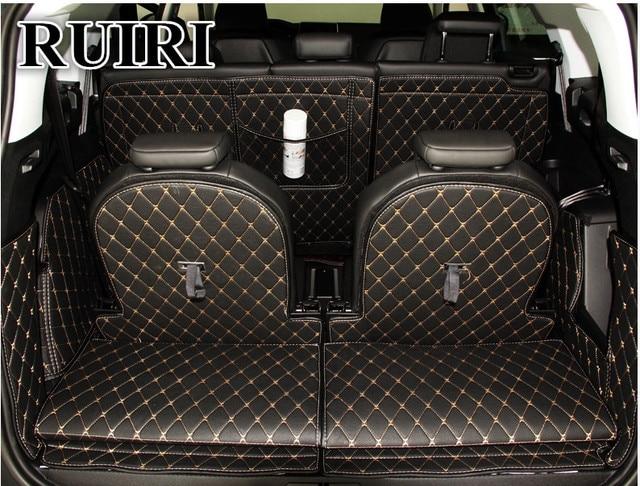 ¡De alta calidad! Juego completo de tapetes para maletero de coche para Peugeot 5008 7 asientos 2019-2017 alfombras impermeables para botas envío Gratis