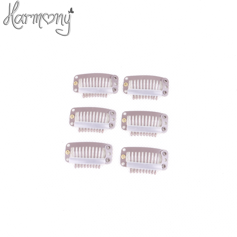 Harmony Stock hair clips for extensions 3 2cm with 6 9 teeth 100pcs per pack 5