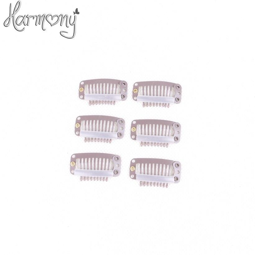 Harmony Lizenzhaarverlängerung clips für erweiterungen/3,2 cm mit 6, 9 zähne 100 stücke pro packung 5 packs/lot