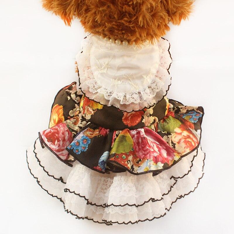 Armi store Flower Pattern Dogs Dresses Fashion Wedding Dress For Dog 6073014 Pet Clothes Wholesale XS, S, M, L, XL