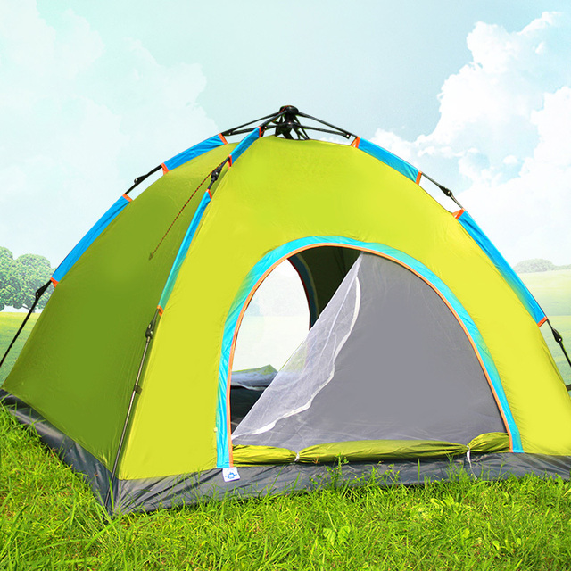 3-4 person 4 Season Outdoor Large C&ing Tent Quick Open Beach Tent Sun Shelter : beach gazebo tent - memphite.com