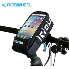 ROSWHEEL MTB Road Bicycle Bike Bag Touchscreen Cycling Top Front Tube Frame Saddle Bag For 4.8/5.7 inch Phone Case Hot Sale