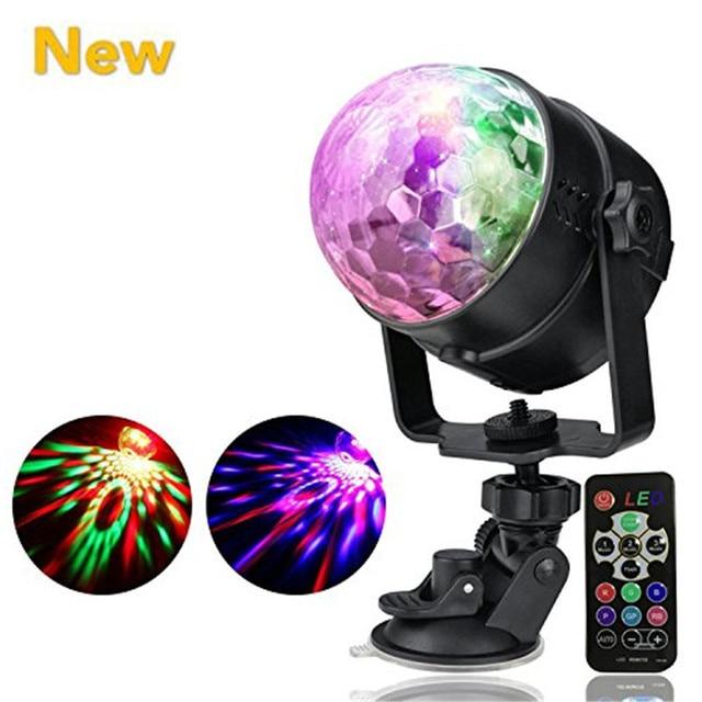 7 Colors Party Lights Disco Light Mini DJ Karaoke Balls Light Outdoor Car Entertainment  Lights Christmas Parties  Wedding
