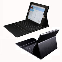 Waterproof PU Leather Case For IPAD 2 3 4 Tablet PC Bluetooth Keyboard Protective Case For