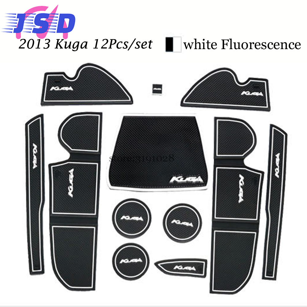 Car styling car accessories for ford kuga 2013 cup mats non slip door pad rubber motive