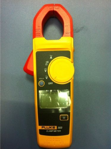 Fast arrival <font><b>Fluke</b></font> 303 Clamp <font><b>Multimeter</b></font> AC/DC Handheld 600A 30mm With Backlight image