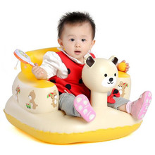 Inflatable Baby Kid Children Bathroom Stools Panda Baby Learn Sofa Chair Seat Small Inflatable Portable Baby Chair Suit 3M-24M