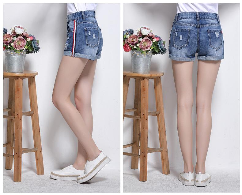 HTB16uFERXXXXXb1XVXXq6xXFXXXF - Short Women Side Striped Shorts Denim Pants JKP138